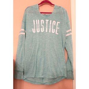 Teal Justice Hoodie